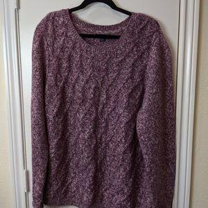 Tommy Hilfiger Cranberry/Cream Knit Sweater/Sz XXL